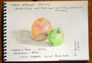 Pamplemousse et pomme.