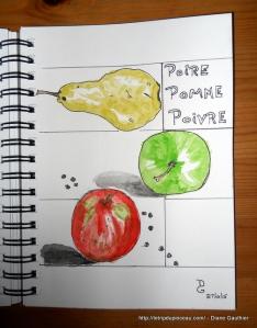 01.27.15 Poire, Pomme, Poivre