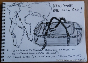 De Capetown à Ushuaïa en quelques jours... Éric vit dans ses valise.