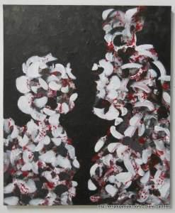 Loup dans la Bergerie. Acrylique. 20 x 24 format galerie.
