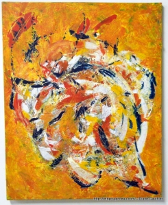 Reine Soleil. Acrylique. 24 x 30.