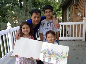 Bao, Yoann, Félicia et Thalie.