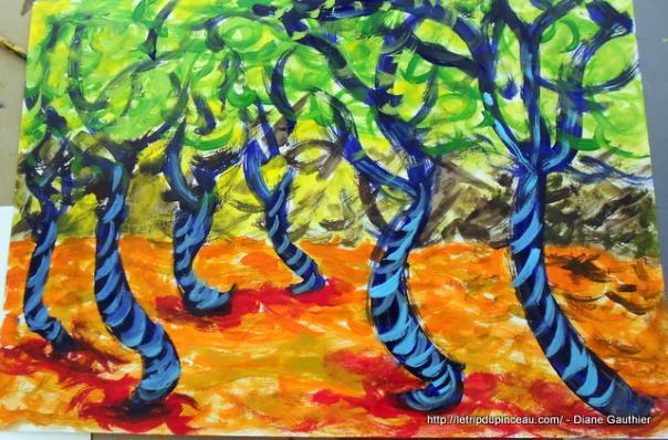Paysage -  inspiration Emily Carr