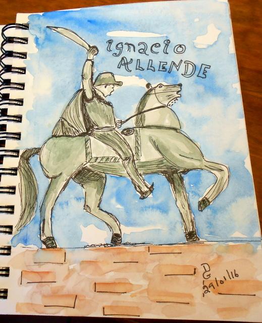 Ignacio Allende, héros de la ville.