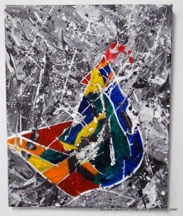 Du coq à l'âme, Acrylique, 16 x 20