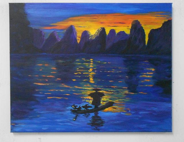 Rivière Li-Jiang, 16 x 20, Acrylique. NON DISPONIBLE. Merci à JCG