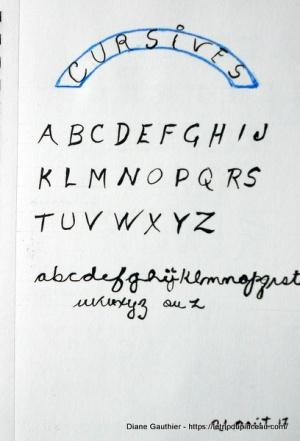 Pratique de cursives - script