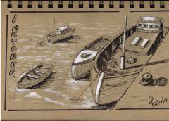 Jour 2 - inspiration du livre How to Paint Boats de Ralph S. Coventry