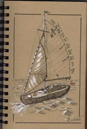 Jour 4 - inspiration du livre How to Paint Boats de Ralph S. Coventry
