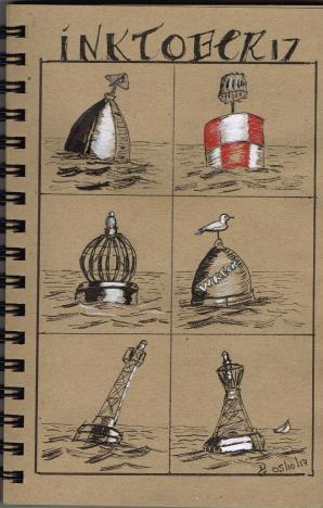 Jour 5 - inspiration du livre How to Paint Boats de Ralph S. Coventry