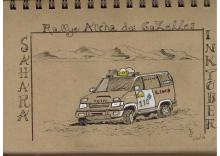Jour 11. D'après une photo lors de ma participation au Rallye Aïcha des Gazelles en 2003.