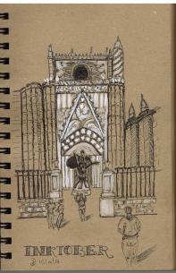 #inktober #inktober2017 - Jour 15 - Cathédrale de Séville, Espagne. D'après une de mes photos.
