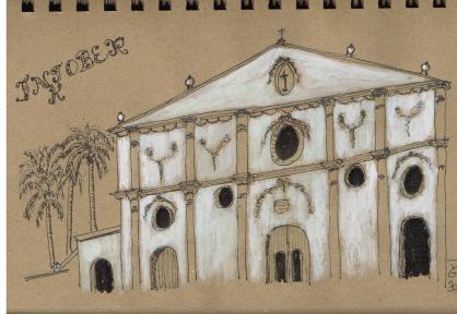 #inktober #inktober2017 Jour 30. Église de Granada, Nicaragua. D'après une de mes photos