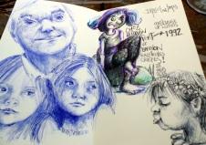 Du sketchbook de Renata Coach Dessin